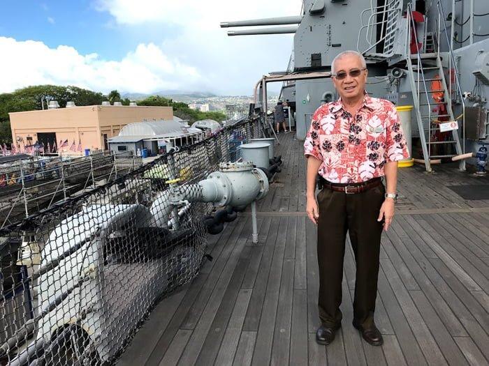 パールハーバーの戦艦ミズーリのガイド「まさじ」さん