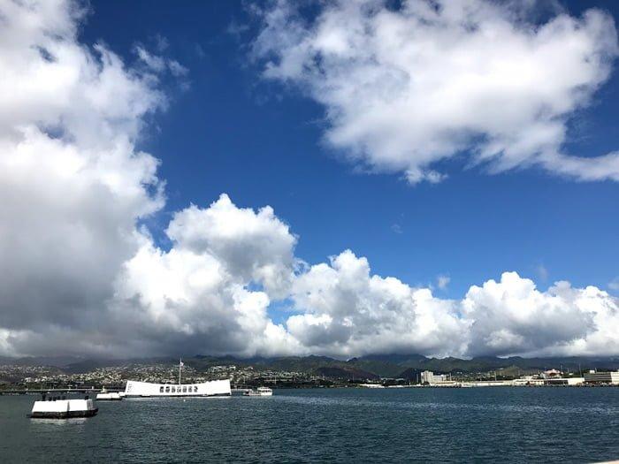 パールハーバーの戦艦ミズーリからの風景