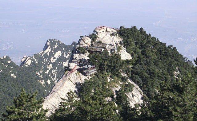 中国・西安の崋山の景色